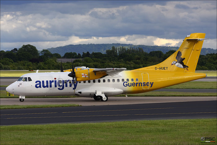 G-HUET ATR42-500 584 Aurigny Air Services @ Manchester Airport 21.06.2015 © Piti Spotter Club Verona
