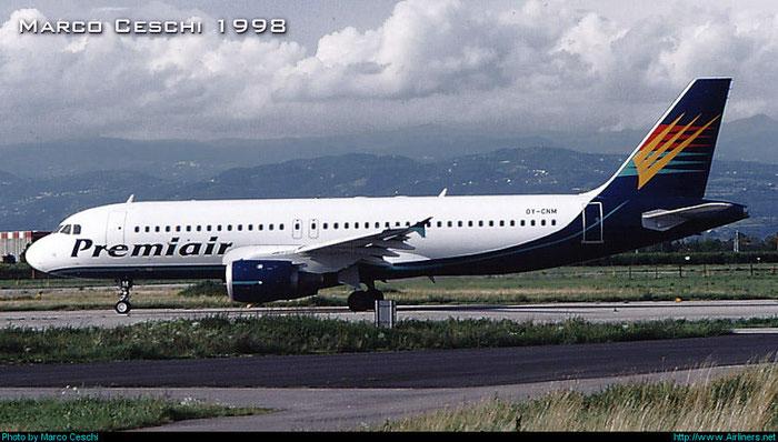 OY-CNM  A320-212  301  Premiair  @ Aeroporto di Verona © Piti Spotter Club Verona