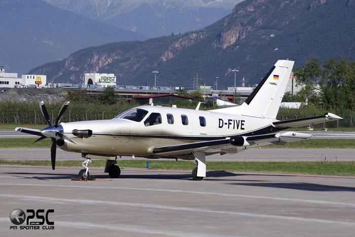 D-FIVE TBM-700B 186 Artemed Aviation GmbH @ Aeroporto di Bolzano © Piti Spotter Club Verona