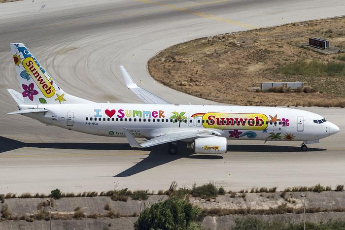 PH-HSA B737-8K2 34171/2950 Transavia Airlines @ Rhodes Airport 06.07.2015  © Piti Spotter Club Verona