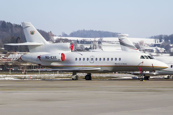 9G-EXE Falcon 900EX-EASy 241 Government of Ghana @ Zurich Airport 21.01.2016 © Piti Spotter Club Verona