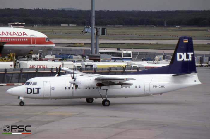 PH-GHK Fokker 50 20116 DLT - Deutsche Luftverkehrsgesellschaft © 2018 courtesy of Marco Ceschi - Piti Spotter Club Verona