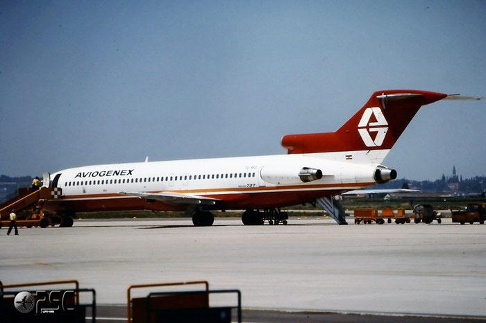 YU-AKD  B727-2L8  21040/1142  Aviogenex  @ Aeroporto di Verona © Piti Spotter Club Verona