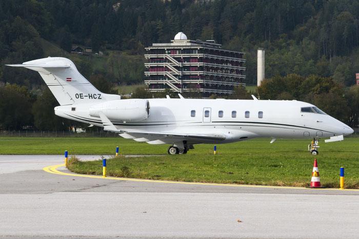 OE-HCZ CL-300 20449 Avcon Jet @ Innsbruck Airport 10.2014 © Piti Spotter Club Verona