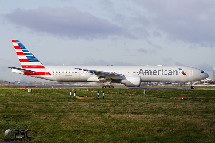 N722AN B777-323ER 31547/1095 American Airlines @ London Heathrow Airport 07.02.2014 © Piti Spotter Club Verona