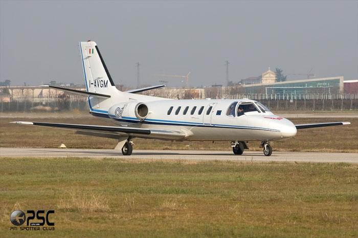 I-AVGM Italy - Ente Nazionale Assistenza al Volo (ENAV) Cessna 550 Citation II - I-AVGM @ Aeroporto di Verona © Piti Spotter Club Verona
