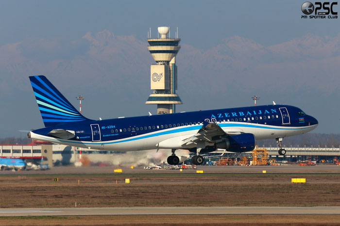 4K-AZ84 A320-214 3006 Azerbaijan Airlines - AZAL @ Milano Malpensa Airport 24.02.2014 © Piti Spotter Club Verona