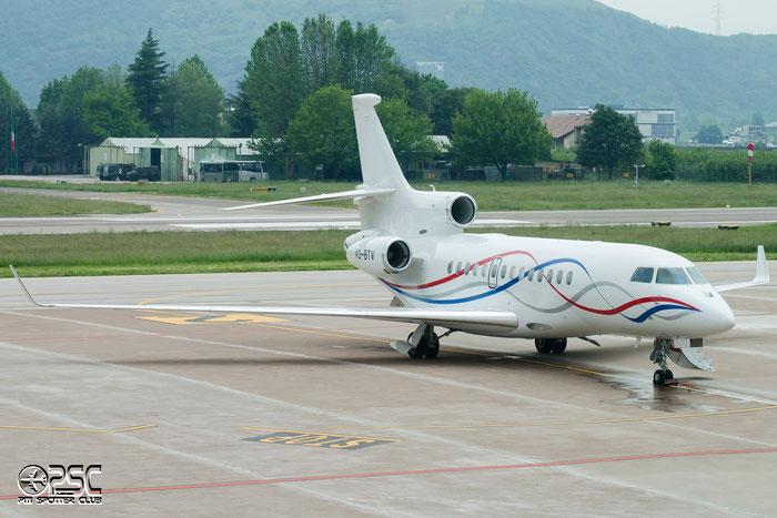 VQ-BTV Falcon 7X 175 Execujet Europe AG @ Aeroporto di Bolzano © Piti Spotter Club Verona