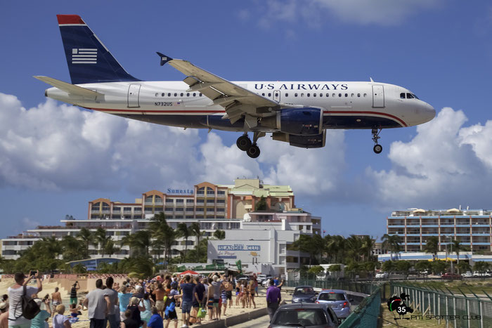 N732US A319-112 1203 US Airways @ Sint Maarten Airport 05.03.2015 © Piti Spotter Club Verona