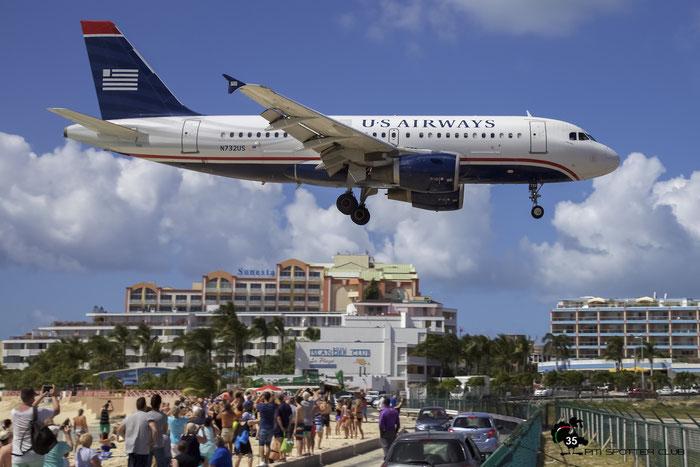 N732US A319-112 1203 US Airways @ Sint Maarten Airport 05.03.2015 © Piti Spotter Club Verona
