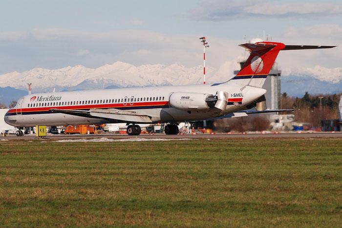 I-SMEL MD-82 49247/1151 Meridiana @ Milano Linate Airport 02.01.2010 © Piti Spotter Club Verona