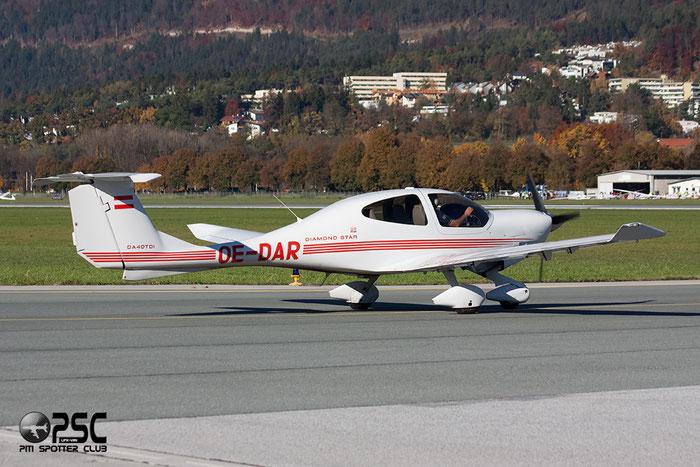 OE-DAR Private Diamond DA-40D Diamond Star TDI @ Innsbruck Airport 27.10.2013 © Piti Spotter Club Verona