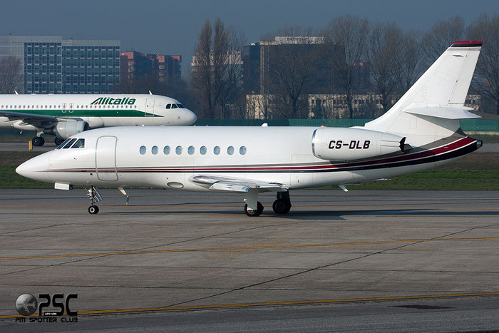 CS-DLB Falcon 2000EX-EASy 080 NetJets Europe @ Milano Linate Airport 08.03.2014 © Piti Spotter Club Verona