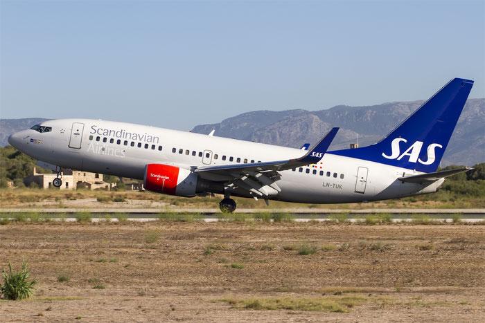 LN-TUK B737-705 29096/794 SAS Scandinavian Airlines - Scandinavian Airlines System @ Palma de Mallorca Airport 07.2014 © Piti Spotter Club Verona