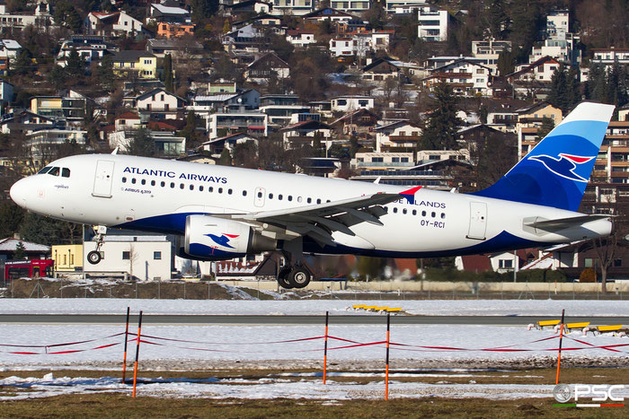 OY-RCI A319-112 3905 Atlantic Airways (Faroe Islands) @ Innsbruck Airport 27.01.2018 © Piti Spotter Club Verona