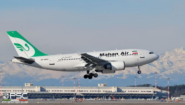 EP-MNO A310-304 595 Mahan Air @ Milano Malpensa Airport 22.02.2016 © Piti Spotter Club Verona