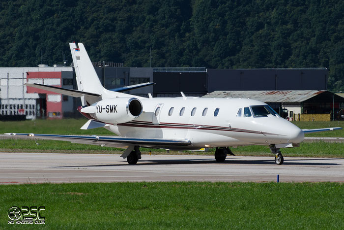 YU-SMK Ce560XLS 560-5641 Prince Aviation @ Aeroporto di Bolzano © Piti Spotter Club Verona