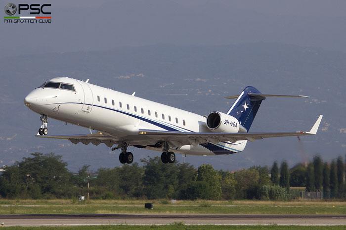 9H-VGA CL-850 8077 Hyperion Aviation @ Aeroporto di Verona 09.09.2018  © Piti Spotter Club Verona