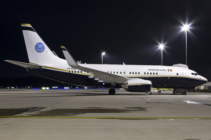 P4-PRM B737-7BC (BBJ1) 30328/377 JetMagic @ Zurich Airport 01.2015 © Piti Spotter Club Verona