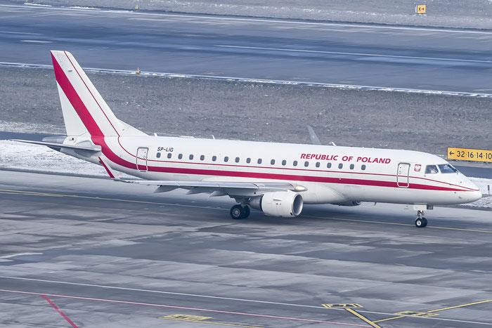 SP-LIG ERJ175LR 17000283 Government of Poland @ Zurich Airport 19.01.2016 © Piti Spotter Club Verona
