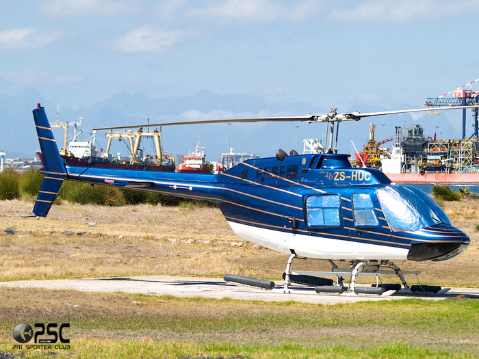 ZS-HUC Private Bell 206B JetRanger II @ Cape Town downtown Heliport Airport 19.03.2014 © Piti Spotter Club Verona