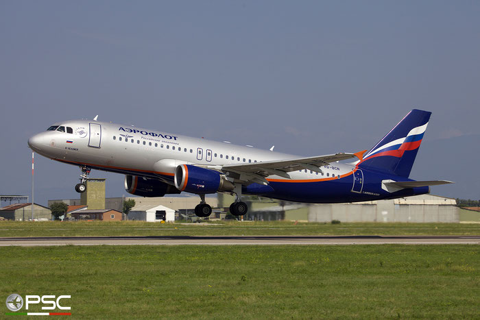VQ-BCN A320-214 3954 Aeroflot @ Aeroporto di Verona 09.09.2018  © Piti Spotter Club Verona