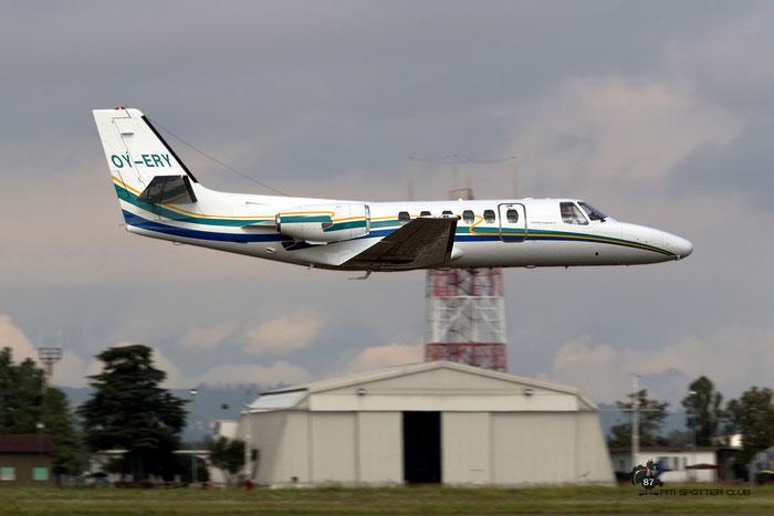 OY-ERY  Ce550  550-0469/469  Jet Plane Corporation ApS @ Aeroporto di Verona 09.2020  © Piti Spotter Club Verona