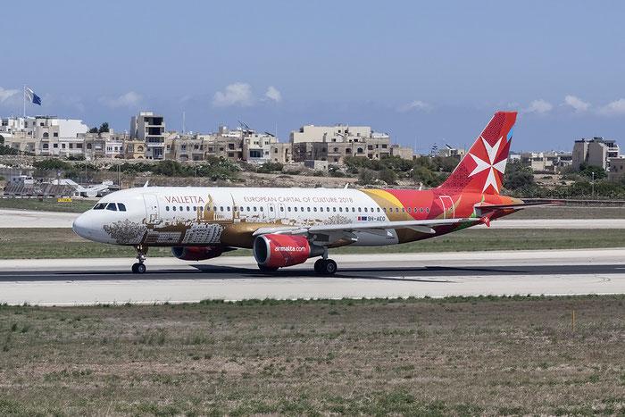 9H-AEO A320-214 2768 Air Malta @ Malta Airport 08.2015 © Piti Spotter Club Verona