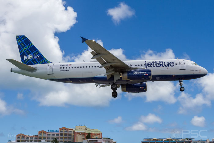 N523JB A320-232 1506 JetBlue Airways @ Sint Maarten  Airport 09.04.2016 © Piti Spotter Club Verona