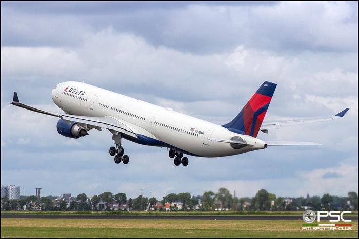 N820NW  A330-323E  859  Delta Air Lines  @ Amsterdam 2019 © Piti Spotter Club Verona