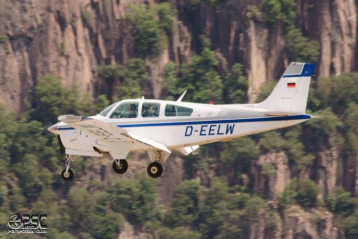 D-EELW Beech F33A Bonanza BE33 CE-1180 @ Aeroporto di Bolzano © Piti Spotter Club Verona