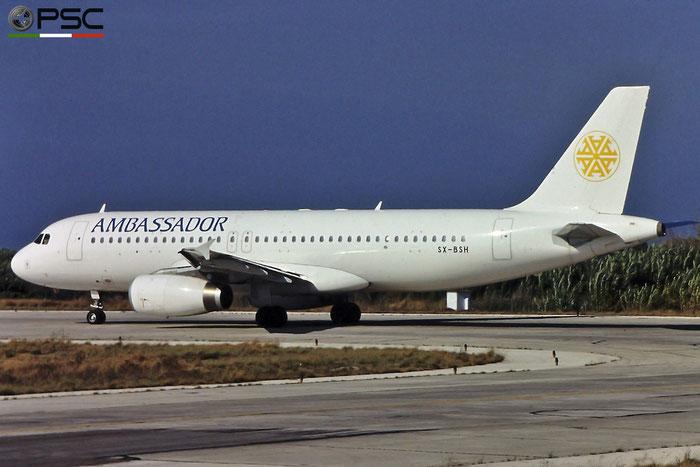 SX-BSH A320-231 225 Ambassador Airways © Piti Spotter Club Verona