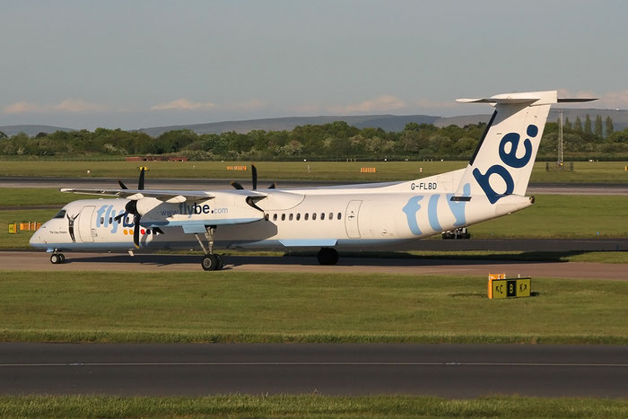 G-FLBD DHC-8-402 4259 Flybe - British European @ Manchester Airport 13.05.2014 © Piti Spotter Club Verona