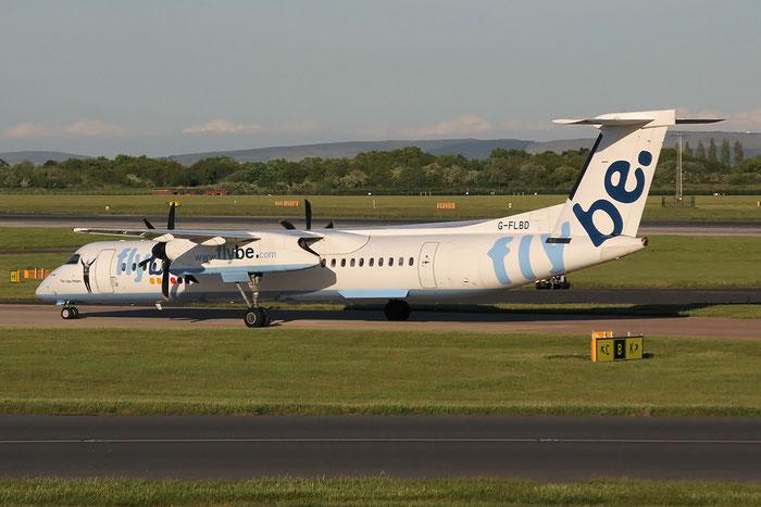 G-FLBD DHC-8-402 4259 Flybe - British European @ Manchester Airport 13.05.2014 © Piti Spotter Club Verona
