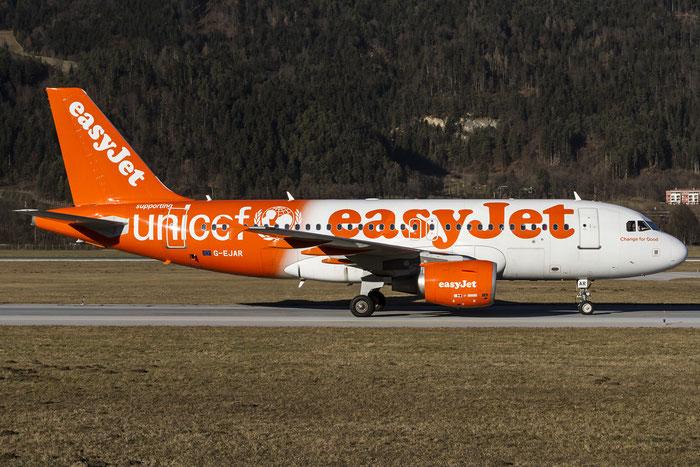 G-EJAR A319-111 2412 EasyJet Airline @ Innsbruck Airport 129.12.2015 © Piti Spotter Club Verona
