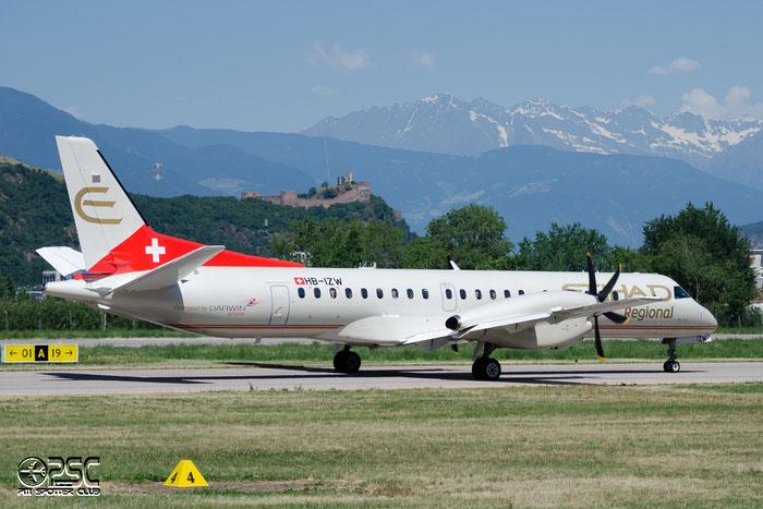 HB-IZW Saab 2000 2000-039 Darwin Airline @ Aeroporto di Bolzano © Piti Spotter Club Verona