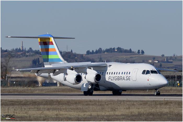 SE-DSY BAe146-RJ100 E3263 BRA - Braathens Regional Airlines @ Aeroporto di Verona 25.02.2017  © Piti Spotter Club Verona
