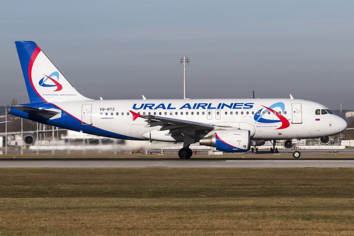 VQ-BTZ A319-112 3388 Ural Airlines @ Munich Airport 28.12.2015 © Piti Spotter Club Verona