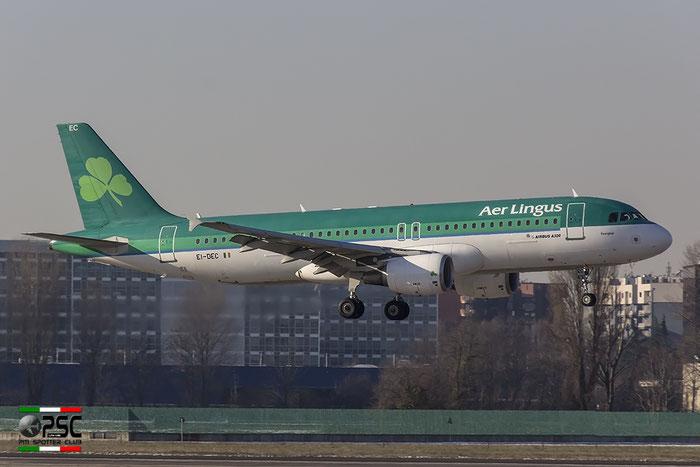 EI-DEC A320-214 2217 Aer Lingus @ Milano Linate Airport 30.12.2014  © Piti Spotter Club Verona