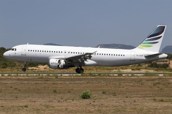 YL-LCA A320-211 333 SmartLynx @ Palma del Mallorca Airport 07.2014 © Piti Spotter Club Verona