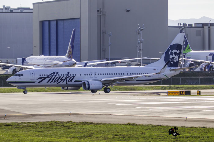 N486AS B737-990ER 44107/5578 Alaska Airlines @ Paine Field Airport 23.09.2015 © Piti Spotter Club Verona