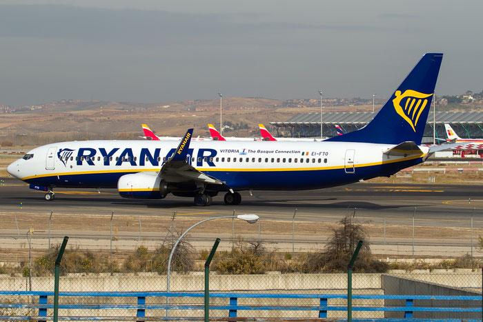 EI-FTO B737-800 44765/6249 Ryanair @ Madrid Airport 23.11.2017 © Piti Spotter Club Verona