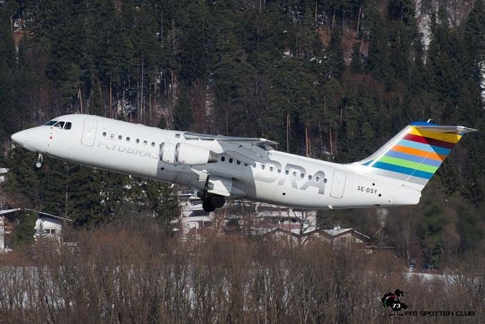 SE-DSY BAe146-RJ100 E3263 BRA - Braathens Regional Airlines @ Innsbruck Airport 28.01.2017 © Piti Spotter Club Verona