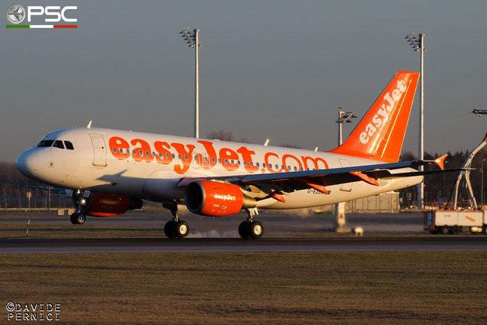 G-EZDC A319-111 2043 EasyJet Airline @ Munich Airport 13.12.2015 © Piti Spotter Club Verona