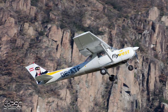 OE-ATF Reims Aviation FA-150L Aerobat C150 FA15000197 Fly-West GmbH, Rum@ Aeroporto di Bolzano © Piti Spotter Club Verona