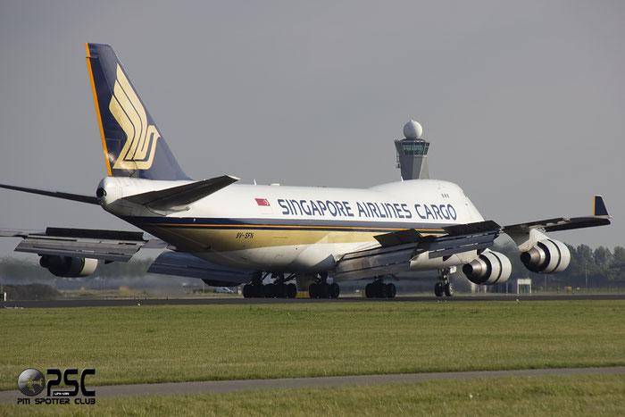 9V-SFN B747-412F 32899/1342 Singapore Airlines Cargo @ Amsterdam Airport 20.09.2013 © Piti Spotter Club Verona