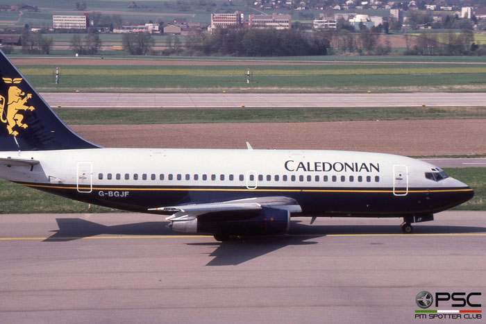 G-BGJF B737-236 22027/654 Caledonian Airways © 2018 courtesy of Marco Ceschi - Piti Spotter Club Verona