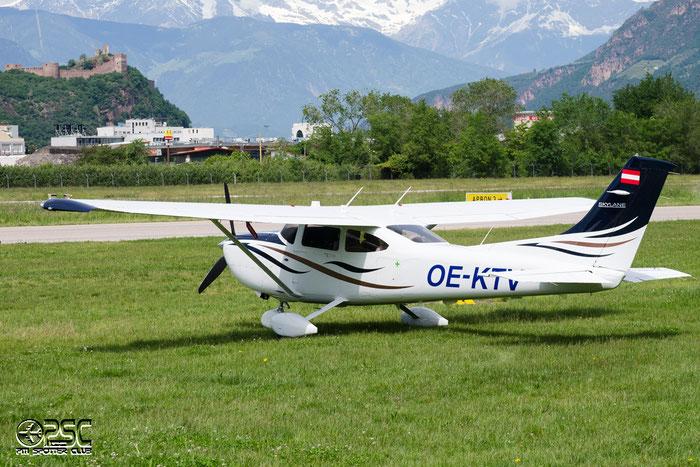OE-KTV Cessna 182T C182 18282107 Vyhnalek Tomas, Decin CZ @ Aeroporto di Bolzano © Piti Spotter Club Verona