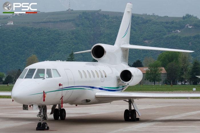 F-HALM Falcon 50 134 Sky Vision d.o.o. @ Aeroporto di Bolzano © Piti Spotter Club Verona