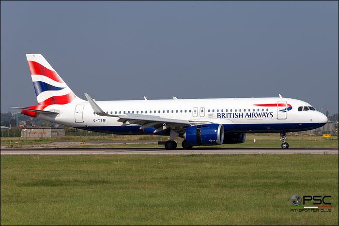 G-TTNI  A320-251N  8767  British Airways @ Aeroporto di Verona 09.2020  © Piti Spotter Club Verona